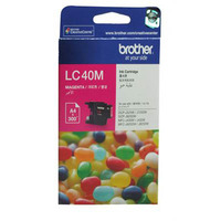 BROTHER LC-40M INKJET CARTRIDGE MAGENTA - BROTHER LC-40M INKJET CARTRIDGE MAGENTA