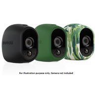 ARLO REPLACEABLE UV RESISTANT BLACK  GREEN  CAMOUFLAGE SILICONE SKIN (PACK OF 3)