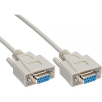 1m Serial RS232 Null Modem Cable - DB9 Female to Female 7C 30AWG-Cu Molded Type Wired crossover for - Astrotek 1m Serial RS232 Null Modem Cable - DB9
