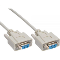 3m Serial RS232 Null Modem Cable - DB9 Female to Female 7C 30AWG-Cu Molded Type Wired crossover for - Astrotek 3m Serial RS232 Null Modem Cable - DB9