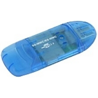 Astrotek VCR-339 USB Card Reader - Blue