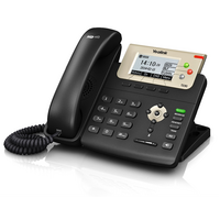 SIP-T23G - HD voice: HD handset  HD speaker  3 SIP accounts  Call hold  mute  DND  XML Browser  Action URL/URI  RTCP-XR  132x64  LCD  Caller ID  PoE
