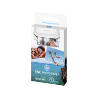 HP Zink Sticky-backed 20 sheet / 2 x 3in Glossy White Photo Paper - ZINK Sticky-backed Photo Paper-20 sht/2 x 3 in