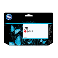 HP 70 130-ml Red DesignJet Ink Cartridge - 130ml  Pigment  Red