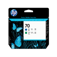 HP 70 Blue and Green DesignJet Printhead - 70 Blue and Green Printhead