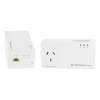 Netcomm NP1201 1200Mbps Powerline Kit with Gigabit Ethernet & AC Passthrough - Netcomm 1200Mbps Powerline Kit with Gigabit Ethernet & AC Passthrough <