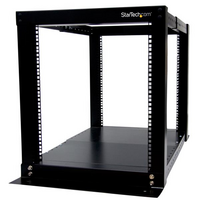 12U Adjustable 4 Post Server Equipment Open Frame Rack Cabinet - StarTech.com 12U Adjustable 4 Post Server Equipment Open Frame Rack Cabinet