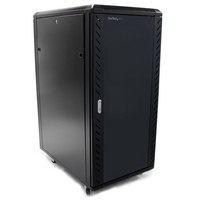 25U 36in Knock-Down Server Rack Cabinet with Casters - StarTech.com 25U 36in Knock-Down Server Rack Cabinet with Casters - Easy to transport and Quick