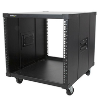 Portable Server Rack with Handles - 9U - StarTech.com Portable Server Rack with Handles - Rolling Cabinet - 9U