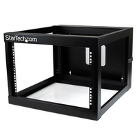 6U 22in Depth Hinged Open Frame Wall Mount Server Rack - StarTech.com 6U 22in Depth Hinged Open Frame Wall Mount Server Rack - Open Frame Rack Cabinet