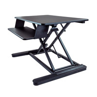 "Sit Stand Desk Converter - With 35"" Work Surface - StarTech.com Sit Stand Desk - 35' Work Surface - Supports Two 24' Monitors - Standing Desk - Adjust"