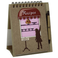RECIPE FREESTANDING NOTEBOOK PROFILE BAKERY 45 PAGES WITH PEN