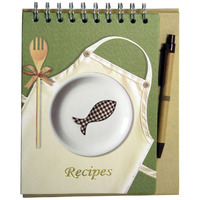 RECIPE FREESTANDING NOTEBOOK PROFILE FISH 45 PAGES WITH PEN