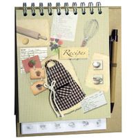 RECIPE FREESTANDING NOTEBOOK PROFILE KITCHEN 45 PAGES WITH PEN