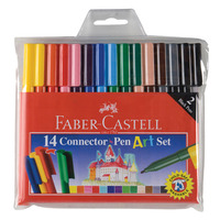 MARKER FABER-CASTELL CONNECTOR PENS ART SET WLT14