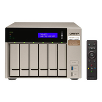 QNAP TVS-673e-4G 6 Bay NAS - Quad Core 3.4GHz  4GB