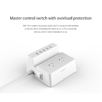 ODC-2A5U (2 AC Outlets with 5 Smart Charging USB 40W Ports Surge Protector) - ORICO ODC-2A5U (2 AC Outlets with 5 Smart Charging USB 40W Ports Surge P