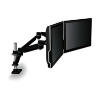 3M MA260MB Easy Adjust Dual Monitor Arm- Black - Experience the productivity benefits of using two displays: two LCD monitors or pair an LCD with lapt