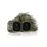 Arlo Go Skins- Set of 2 Skins- Ghillie & Mossy Oak - Designed for Arlo Go Wire - Free Cameras (VMA4250)