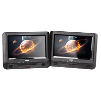 DVD Player Dual 9' in car with Bonus Pack (headrest mounts and earphones)