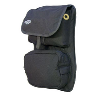 The Front Cover with Pockets. Size Medium - Add pockets to the front of your Ruxton Chest Pack.  BlackThe top pocket lid is secured with the Fidlock S