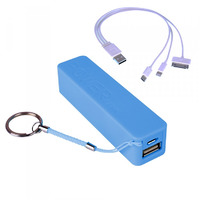 Laser 2200mAh Powerbank - Blue - With 3 in 1 Cable