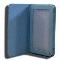 Tab7 Folio Case Blue Faux Leather. Camera hole rear