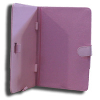 Tab7 Folio Case Pink Faux Leather. Camera hole rear
