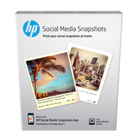 Social Media Snapshots Removable Sticky Photo Paper-25 sht/4 x 5 in
