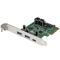 Startech PCIe Adapter - 2x USB 3.1  1x USB-C 3.0  2x Internal IDC