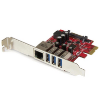 Startech PCIe Adapter - 3x USB 3.0  1x 1Gbps Ethernet