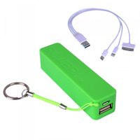Laser 2200mAh Powerbank - Green - With 3 in 1 Cable
