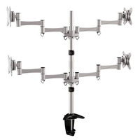 Brateck LDT02-C048 Desk Monitor Mount - 4x Screens  Up to 27'  VESA 75/100