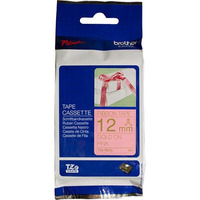 BROTHER TZE-RE34 LAMINATED LABELLING TAPE 12MM GOLD ON PINK