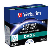 Verbatim M-DISC DVD-R 4.7GB 5pk - Printable