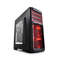 DeepCool Kendomen Mid Tower - ATX - Black/Red