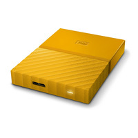 WD My Passport 4TB Portable HDD - Yellow - USB 3.0