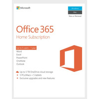 Microsoft Office 365 Home - 1 Year 5 Licenses