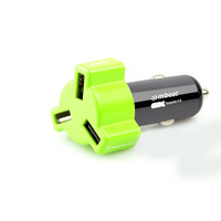 mbeat Rapid Car Charger - Green - 3 USB Ports