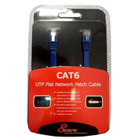 8Ware Cat6 Ethernet Cable 1m - Blue Flat