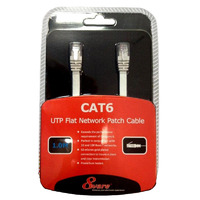 8Ware Cat6 Ethernet Cable 2m - White Flat