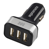 Promate Ternion 7200mAh Car Charger - Silver - 3 USB Ports