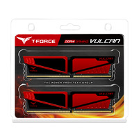 Team Vulcan 8GB DDR4 - Red - 2x4GB DIMM 2400MHz CL14 1.2V