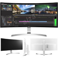 LG 34UC99 34'Curved UltraWide WQHD IPS Gaming Monitor 21:09 3440x1440 5ms 2xHDMI DP USB-C Speakers Height Adjust Tilt VESA Black Stabiliser FreeSync