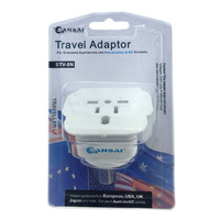 Travel Adapter for 240V Equipment from Britain/ USA/ Europe/ Japan/ China/ Hongkong/ Singapore/ Kore