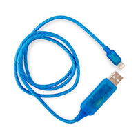 Visible Flowing USB Lightning Charging Cable - Blue