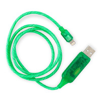 Visible Flowing USB Lightning Charging Cable - Green