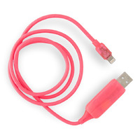Visible Flowing USB Lightning Charging Cable - Pink