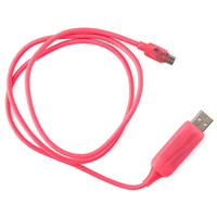 Visible Flowing Micro USB Charging Cable - Pink