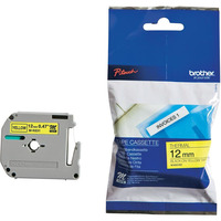 M-K631 - M Series Tape Cartridge for P-Touch Labelers  1/2w  Black on Yellow